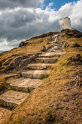 Path Digital Art - Lighthouse Steps by Adrian Evans