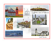Maine Lighthouses Posters - Lighthouses of Maine Poster by Jack Schultz