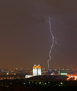 Moscow Photos - Lightning Over Moscow by Viacheslav Savitskiy