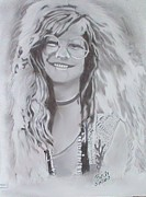 Janis Joplin Drawings - Like A Spring Rose by William Cox