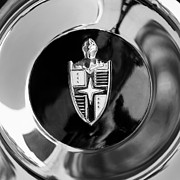 Lincoln Images Metal Prints - Lincoln Capri Wheel Emblem Metal Print by Jill Reger
