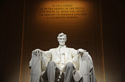 Abraham Lincoln Prints - Lincoln Memorial at Night - Washington D.C. Print by Gary Whitton