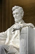 Abe Lincoln Photo Posters - Lincoln Memorial Poster by John Greim