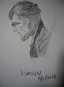 President Lincoln Drawings - Lincoln by Michael Snincsak