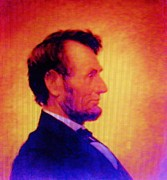 Leaders Mixed Media Framed Prints - LINCOLN   Pop Art Framed Print by Gunter  Hortz