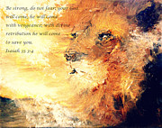 No Weapon Formed Against Me Shall Prosper In Jesus Name. Posters - Lion of Judah Strength Poster by Amanda Dinan
