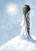 Guardian Angel Paintings - Little Fairy by Shawna Erback by Shawna Erback