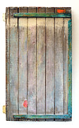 Wooden Sculpture Metal Prints - Little Painted Gate in Summer Colors  Metal Print by Asha Carolyn Young