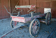 Barbara Snyder Prints - Little Red Wine Wagon Print by Barbara Snyder