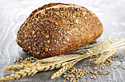 Grains Prints - Loaf of multigrain bread Print by Elena Elisseeva