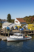 New England Village  Framed Prints - Lobster Boat Framed Print by John Greim