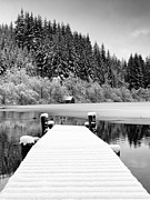 Snow Scene Art - Loch Ard Winter Scene by Grant Glendinning