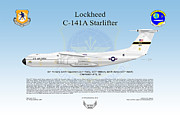 Air Force Print Art - Lockheed C-141A Starlifter by Arthur Eggers