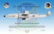Mccoy Posters - Lockheed EC-121Q Super Constellation Poster by Arthur Eggers