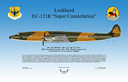 Air Wing Graphics Prints - Lockheed EC-121R Super Constellation Print by Arthur Eggers