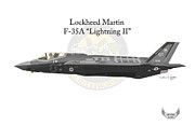 U.s. Air Force Posters - Lockheed Martin F-35A Lightning II Poster by Arthur Eggers