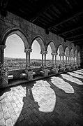 Architecture Prints - Loggia of the Gothic Leiria Caste Print by Lusoimages  