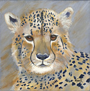 Cheetah Painting Framed Prints - Londolozi Cheetah Cub Framed Print by Lynn Rattray