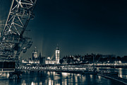 London Skyline Art - London at night by Ian Hufton