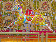 Fanciful Metal Prints - London Carousel Metal Print by Ann Horn