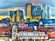Great Britain Digital Art - London City by Yury Malkov