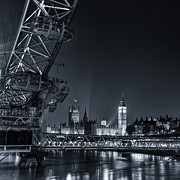London At Night Framed Prints - London Cityscape Framed Print by Ian Hufton