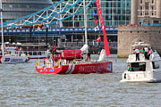 Clippers Prints - London is to host the start and finish of the 2013-14 edition of the Clipper Round the World Yacht R Print by Ash Sharesomephotos