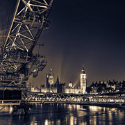 London At Night Framed Prints - london Night skyline Framed Print by Ian Hufton
