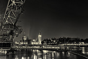 London At Night Framed Prints - London Skyline Framed Print by Ian Hufton