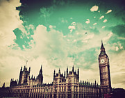 Travel Art - London UK Big Ben the Palace of Westminster by Michal Bednarek