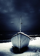 Wooden Ship Prints - Loneliness Print by Stylianos Kleanthous