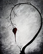 Tree Art Print Mixed Media - Lonely Heart by Mike Grubb