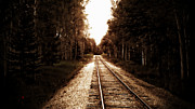 Train Tracks Framed Prints - Lonely Railway Framed Print by Adam Vance