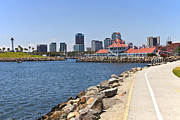 Businesses Prints - Long Beach marina California. Print by Gino Rigucci
