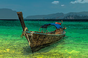 Cartoon Digital Art - Longboat by Adrian Evans