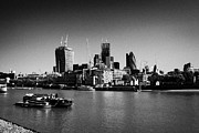 London Central Framed Prints - looking across the river thames at the city of London England UK Framed Print by Joe Fox