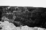 Looking Down Framed Prints - looking down into the grand canyon from guano point Grand Canyon west arizona usa Framed Print by Joe Fox