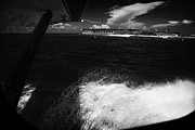Floatplane Prints - Looking Out Of Seaplane Window Landing On The Water Next To Fort Jefferson Garden Key Dry Tortugas F Print by Joe Fox
