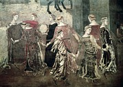 Dance Of Life Framed Prints - Lorenzetti, Ambrogio 1285-1348 Framed Print by Everett
