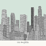 Los Angeles Skyline Mixed Media - Los Angeles by Brian Buckley