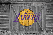 Dunk Photo Prints - Los Angeles Lakers Print by Joe Hamilton