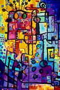 Bureaucrat Painting Posters - Lost papers and urban Plans Poster by Regina Valluzzi