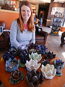 3-d Ceramics - Lotus Flowers by Lyra Jubb