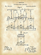 Fermentation Prints - Louis Pasteur Beer Brewing Patent Print by Stephen Younts
