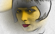 Hairstyle Digital Art - Louise Brooks Expressive Eyes by Ricardo  De Almeida