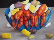Louisiana Seafood Art - Louisiana Crawdad Boil by Pamela Pantuso
