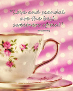 Cup Of Tea Photos - Love and Scandal.... by Karen Lewis