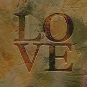 Art Word Metal Prints - Love Metal Print by Ann Powell