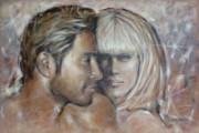 Young Love Painting Originals - Love Is In The Air 260709 by Selena Boron