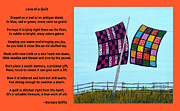 Patchwork Quilts Prints - Love of a Quilt  Print by Barbara Griffin